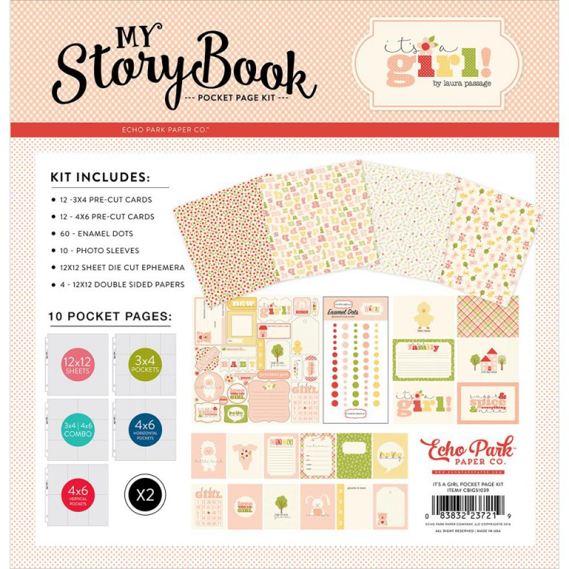Pack 30x30 - Echo Park - My StoryBook - It's A Girl