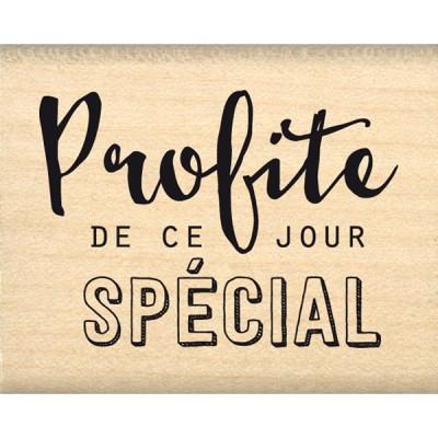 Tampon bois Florilèges - Profite de ce jour
