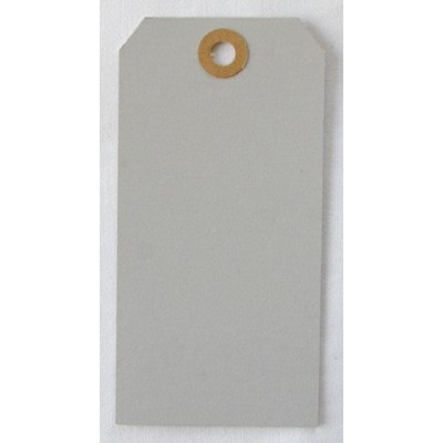 Etiquettes américaines 6x12 cm - Gris (Lot de 10)