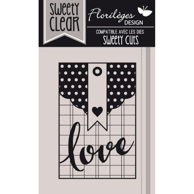 Tampons Sweety Clear Florilèges - Pochette Love