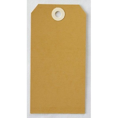 Etiquettes américaines 6x12 cm - Marron (Lot de 10)