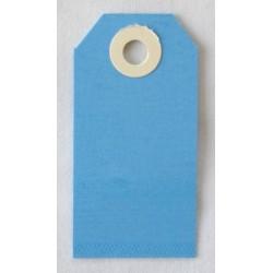Etiquettes américaines 3.5x7 cm - Bleu (Lot de 10)