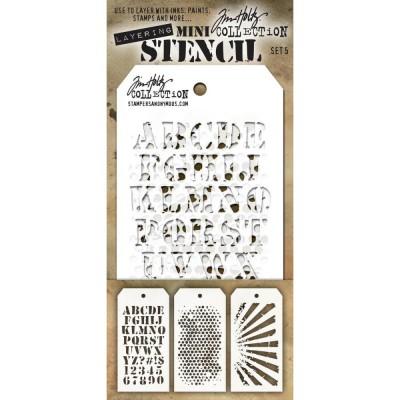 Mini Layered Stencil Tim Holtz - Set 5