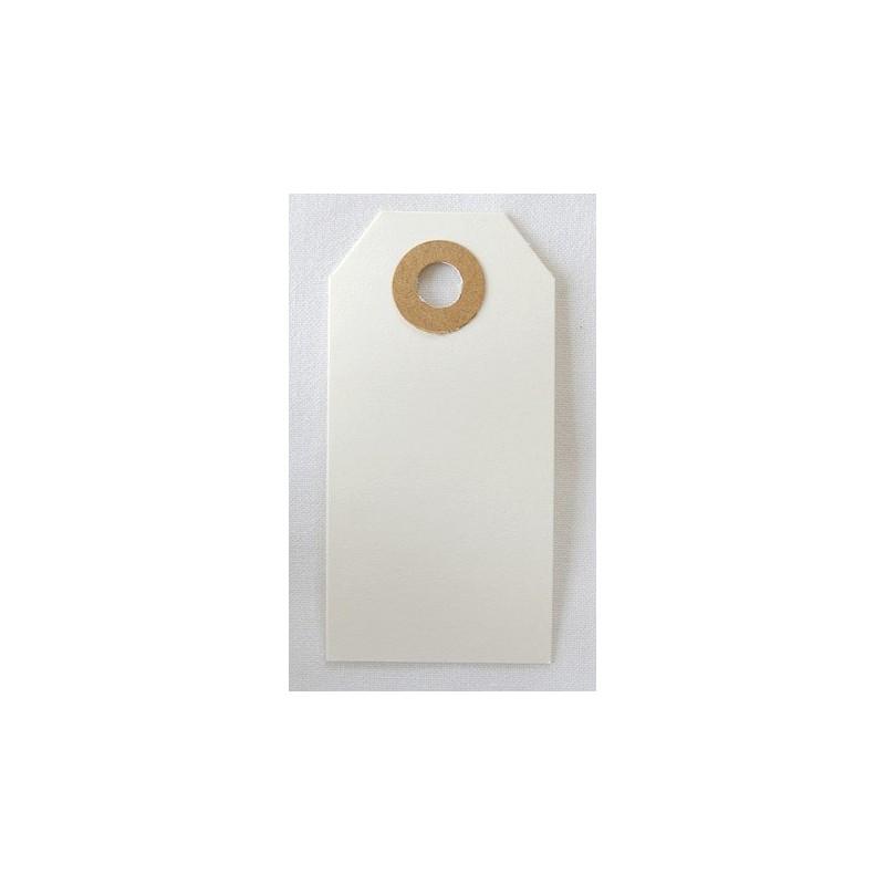 Etiquettes américaines 3.5x7 cm - Blanc (Lot de 10)