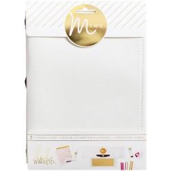 Couverture d'album en tissu 15x20 cm Minc - Blanc