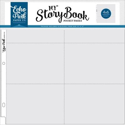 "Pochettes My StoryBook 30x30 cm - Compartiments 4""x6"" Horizontal"