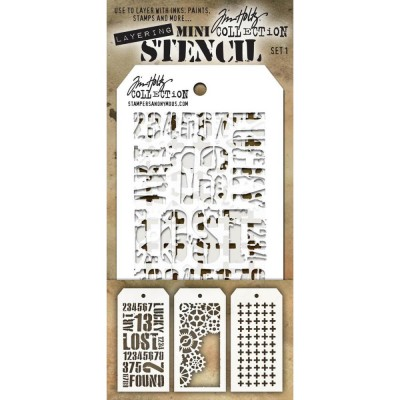 Mini Layered Stencil Tim Holtz - Set 1