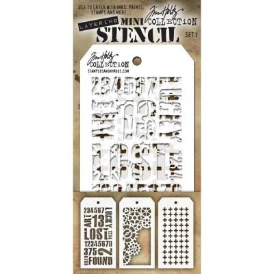 Mini Layered Stencil Tim Holtz - Set 1