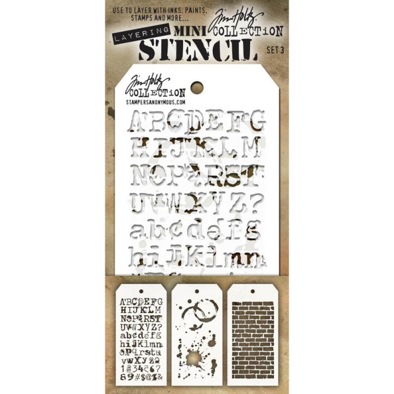 Mini Layered Stencil Tim Holtz - Set 3