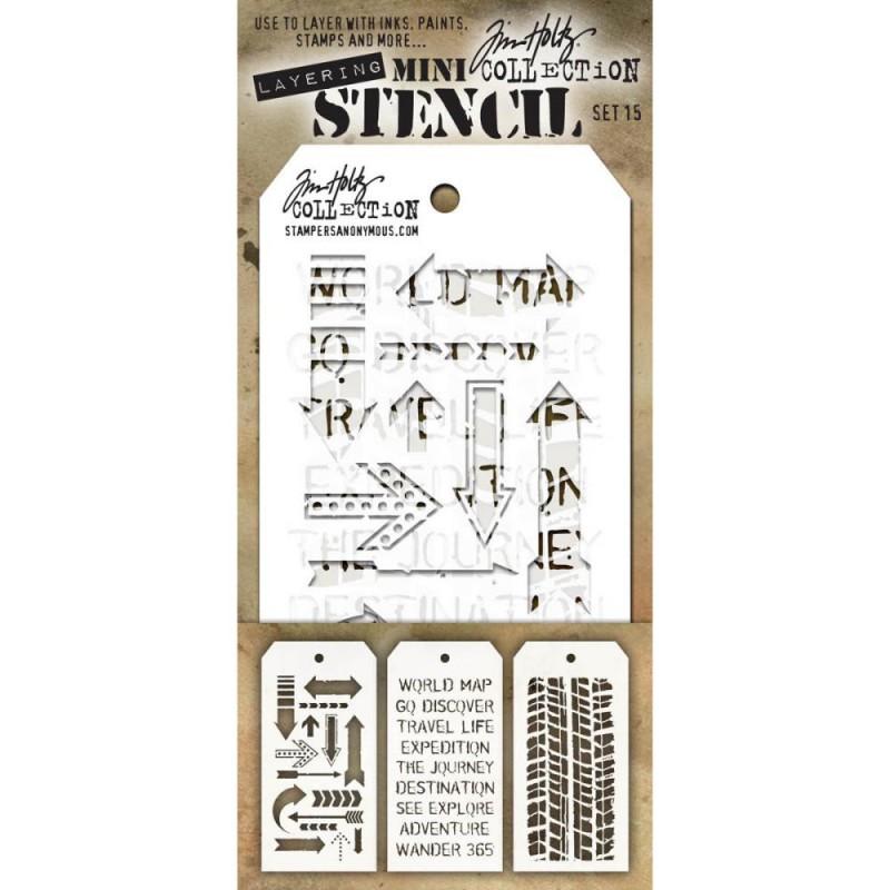 Mini Layered Stencil Tim Holtz - Set 15