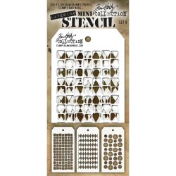 Mini Layered Stencil Tim Holtz - Set 9