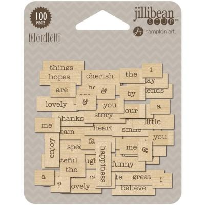 Rectangles de bois imprimés Wordfetti - Celebrate