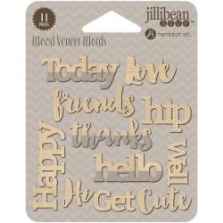 Wood Veneer Words - Happy