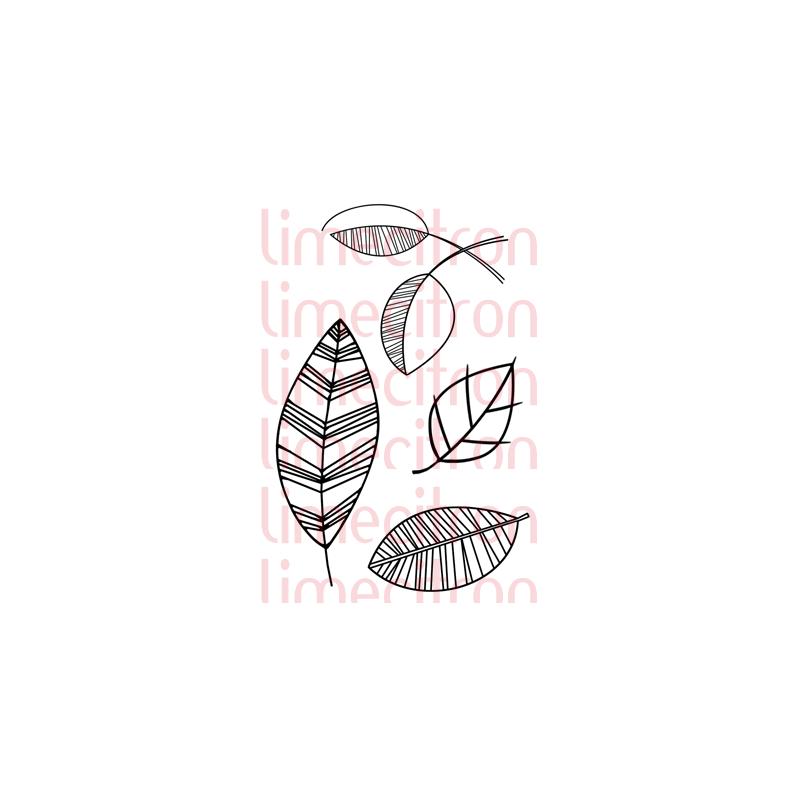 Tampons Lime Citron - Plein de feuilles