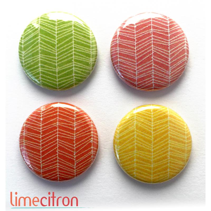 """Badges Lime Citron 1"""" - Acidulée"""