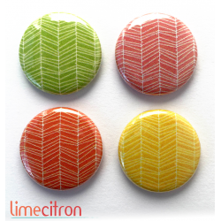 "Badges Lime Citron 1"" - Acidulée"