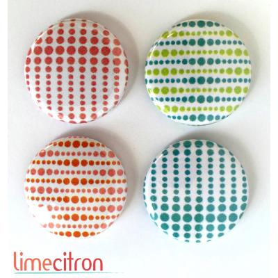 """Badges Lime Citron 1"""" - Optique"""