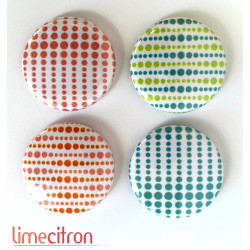 "Badges Lime Citron 1"" - Optique"
