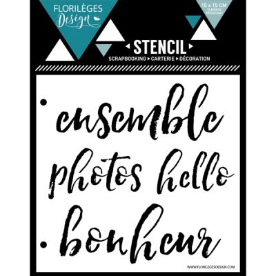 Pochoir Florilèges - Quatre mots