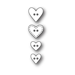 Die Poppystamps - Heart Buttons