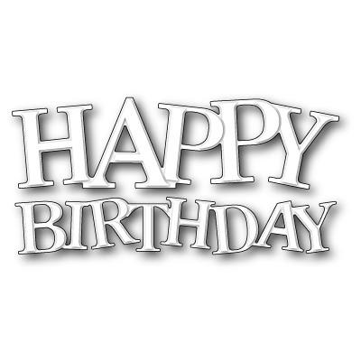 Die Poppystamps - Jumbled Happy Birthday
