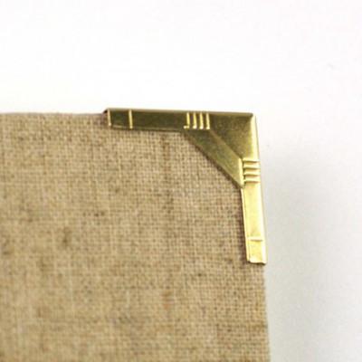 Coin métal or style art déco 20 mm à l'unité