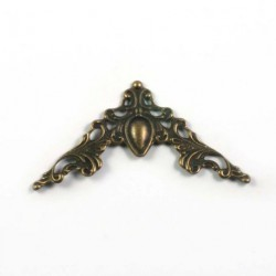 Coin bronze baroque 40 mm à l'unité