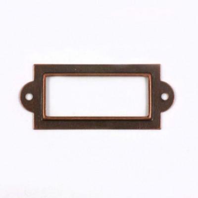 Porte etiquette cuivre vieilli