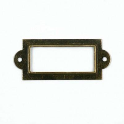 Porte etiquette bronze vieilli