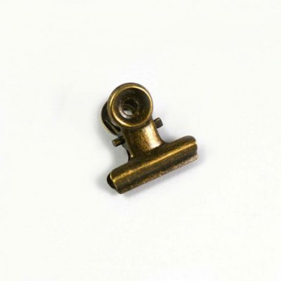 Pince Clip bronze vieilli