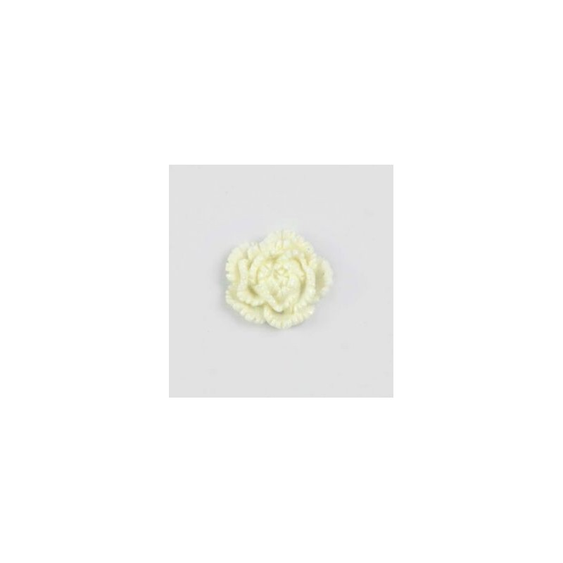 Pivoine en résine 15mm (lot de 20) - Blanc