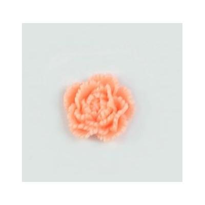 Pivoine en résine 15mm (lot de 20) - Corail