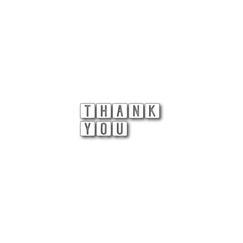 Die Memory Box - Thank You Tiles