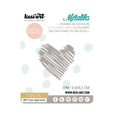 Dies MetaliKs - Coeur Signé Main