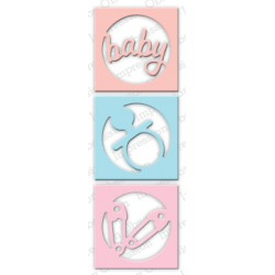 Die Impression Obsession - Circle Baby Cutout