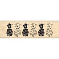 Tampon bois Florilèges - Bordure Ananas