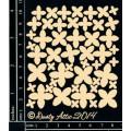 Sujets en carton bois Dusty Attic - Mini Blossoms