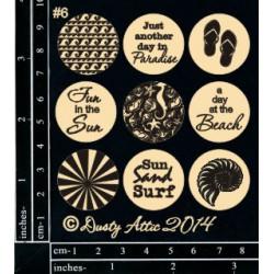 Sujets en carton bois Dusty Attic - Page Pebbles 6