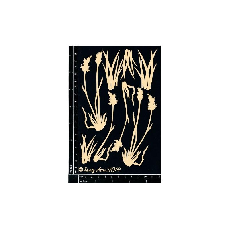 Sujets en carton bois Dusty Attic - Grass Cluster 1