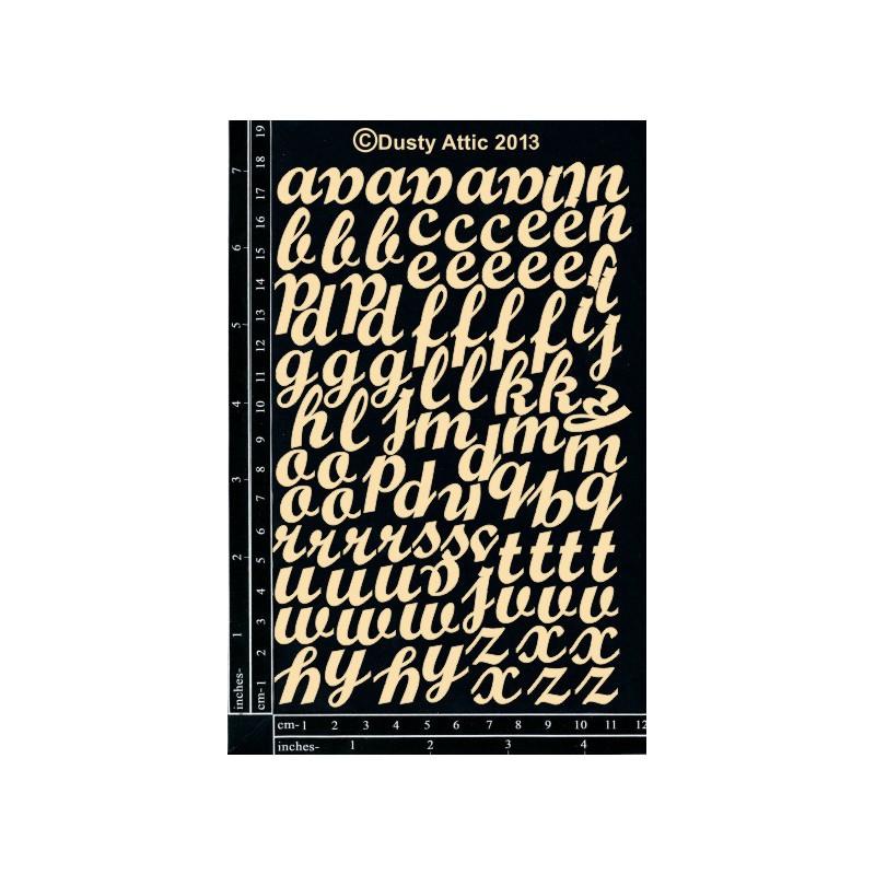 Sujets en carton bois Dusty Attic - Mini Script ABC