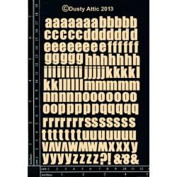Sujets en carton bois Dusty Attic - Mini ABC Lowercase