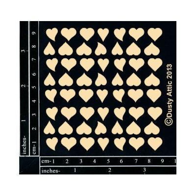 Sujets en carton bois Dusty Attic - Mini Hearts 2