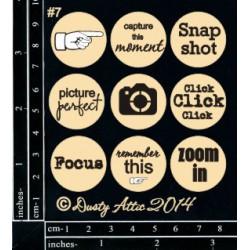 Sujets en carton bois Dusty Attic - Page Pebbles 7