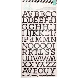 Alphabet Puffy pailleté Heidi Swapp - Majuscules - Noir