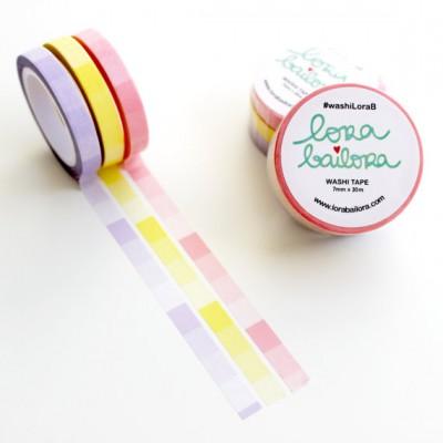 Washi Tape Lora Bailora - Slim - Dégradé Pastel