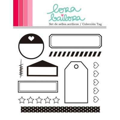 Tampons clear Lora Bailora - Tag