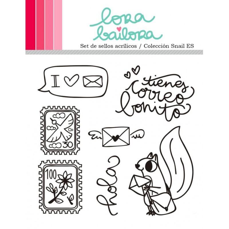 Tampons clear Lora Bailora - Snail (version espagnole)