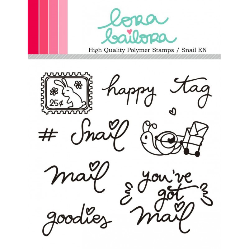 Tampons clear Lora Bailora - Snail (version anglaise)