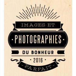 Tampon bois KesiArt - Série 100% Bonheur - Photographies