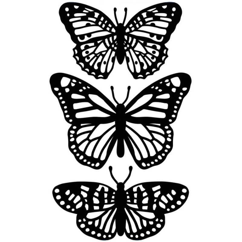Pochoir de gaufrage Darice - Butterfly Trios
